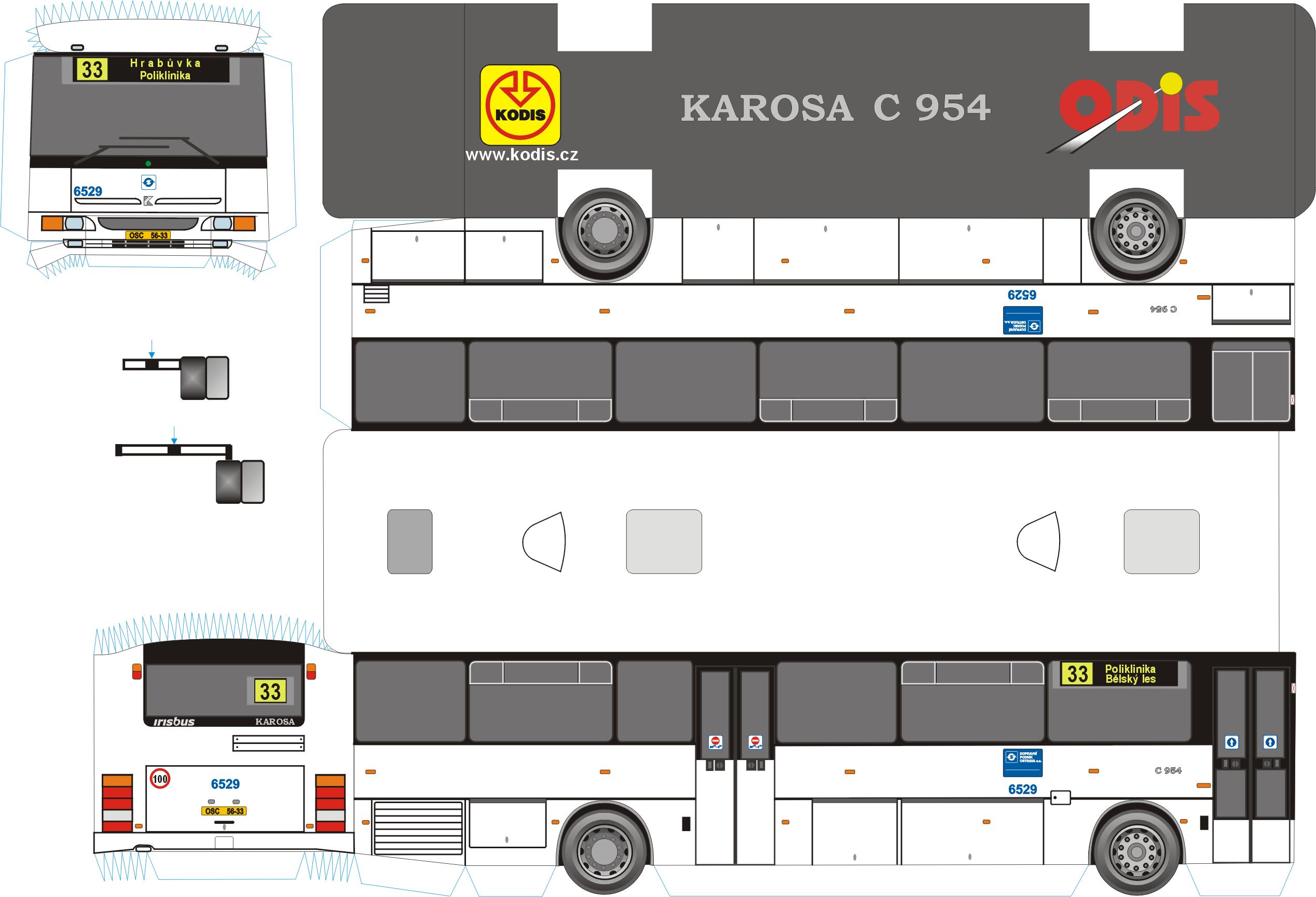 Karosa C 954 CZ DP Ostrava a s